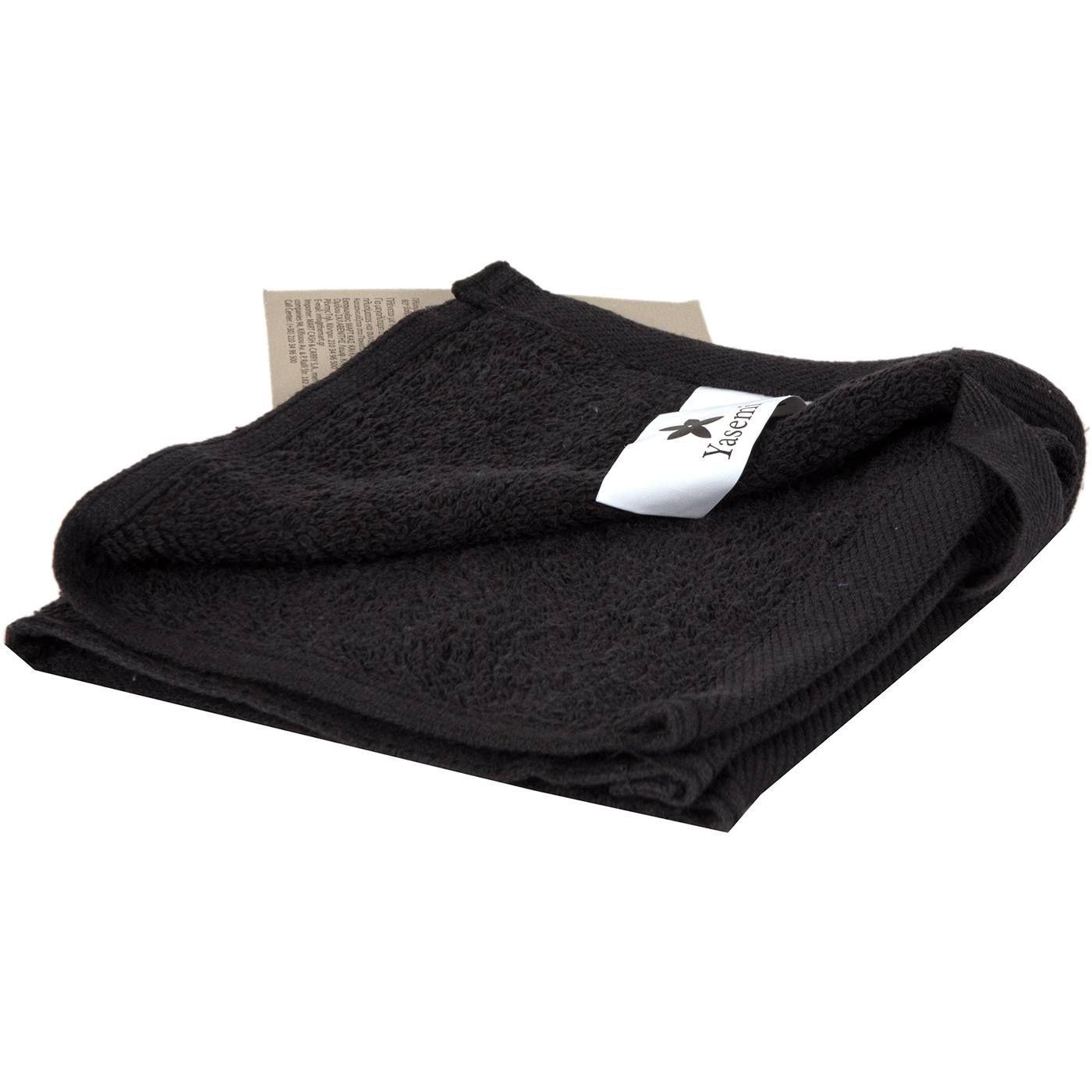 Πετσέτα YASEMI λαβέτα 100% βαμβακερή μαύρη 30x30cm  e635b099943