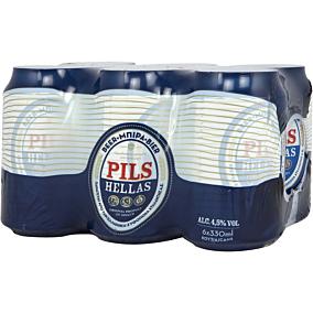 Μπύρα PILS HELLAS (6x330ml)