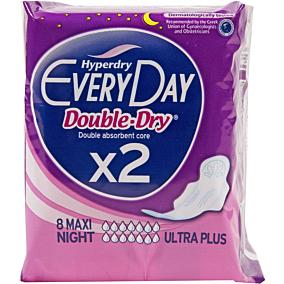Σερβιέτες EVERYDAY Maxi Night Ultra Plus Double Dry με φτερά (8τεμ.)