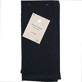 Πετσέτα κουζίνας YASEMI πικέ μαύρη 40x60cm