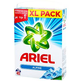 Απορρυπαντικό ARIEL ALPINE πλυντηρίου ρούχων, σε σκόνη (45μεζ.)