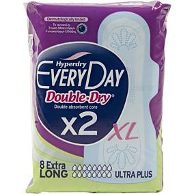 Σερβιέτες EVERYDAY Hyperdry Double Dry Extra Long με φτερά (8τεμ.)