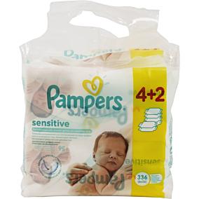 Μωρομάντηλα PAMPERS Sensitive Mega (6x56τεμ.)
