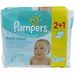 Μωρομάντηλα PAMPERS Fresh Clean (3x64τεμ.)