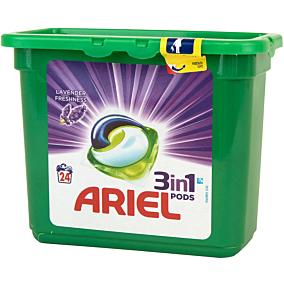 Απορρυπαντικό ARIEL λεβάντα 3 σε 1 πλυντηρίου ρούχων, σε υγρές κάψουλες (24τεμ.)