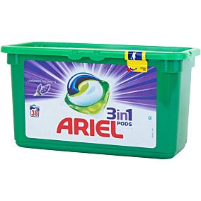 Απορρυπαντικό ARIEL λεβάντα 3 σε 1 πλυντηρίου ρούχων, σε υγρές κάψουλες (38τεμ.)