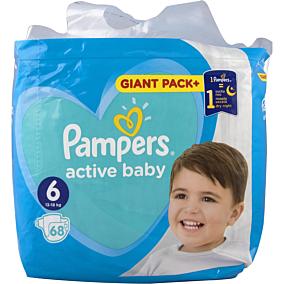 Πάνες PAMPERS active baby Giant Pack+ No.6 (68τεμ.)