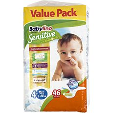 Πάνες BABYLINO Sensitive No.4+, 9-20kg (46τεμ.)