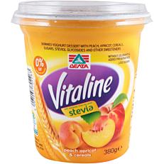 Γιαούρτι ΔΕΛΤΑ Vitaline ροδάκινο βερίκοκο και δημητριακά (380g)