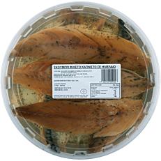 Σκουμπρί φιλέτο καπνιστό (1kg - στραγγισμένο βάρος 600g)