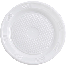 Πιάτα PP πλαστικά λευκά 20cm (20τεμ.)