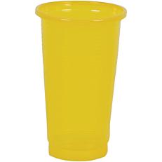 Ποτήρια πλαστικά PP κίτρινα 250ml (50τεμ.)