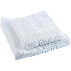 Πετσέτα RESORT LINE προσώπου με μαίανδρο λευκή 50x100cm