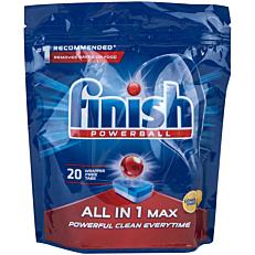 Απορρυπαντικό FINISH all in 1 πλυντηρίου πιάτων λεμόνι, σε κάψουλες (20τεμ.)