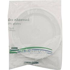 Πιάτα PS πλαστικά λευκά 21cm (20τεμ.)
