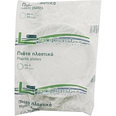 Πιάτα PS πλαστικά λευκά 23cm (20τεμ.)