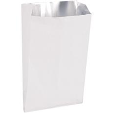 Χαρτοσακούλες λευκές με εσωτερική επένδυση αλουμινίου, 15x26cm (5kg)