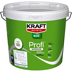 Χρώμα KRAFT Eco Profi Interior πλαστικό, λευκό (9lt)