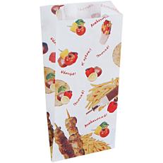 Χαρτοσακούλες λευκές βεζιτάλ παράσταση ψητοπωλείου 12,5x26cm (5kg)