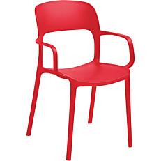 Καρέκλα με χειρολαβή κόκκινη