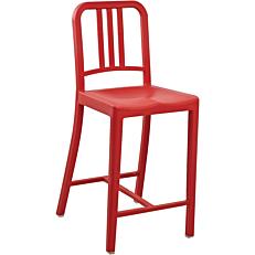 Καρέκλα μπαρ πλαστική PP κλασική κόκκινη