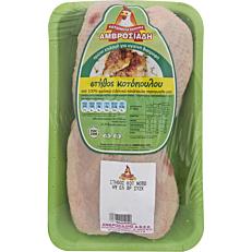 Κοτόπουλο ΑΜΒΡΟΣΙΑΔΗ στήθος με οστό νωπό σε δισκάκι εγχώριο (~1kg)