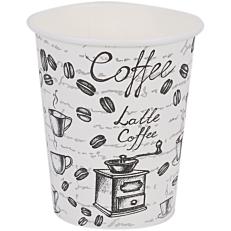Ποτήρια χάρτινα με σχέδιο coffee latte 8oz (50τεμ.)
