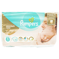 Πάνες PAMPERS premium care No.1 2-5kg (41τεμ.)