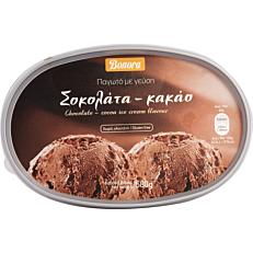 Παγωτό BONORA σοκολάτα συσκευασία 1lt (580gr)