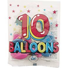 Μπαλόνια χρωματιστά σε διάφορα χρώματα 26cm (10τεμ.)
