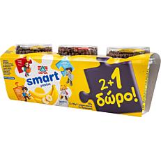 Επιδόρπιο γιαουρτιού ΔΕΛΤΑ smart με γεύση μπανάνα (3x145g)
