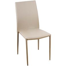 Καρέκλα τραπεζαρίας PU μπεζ