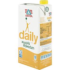 Ρόφημα γάλακτος ΔΕΛΤΑ daily χωρίς λακτόζη (1lt)