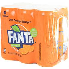 Αναψυκτικό FANTA πορτοκαλάδα κόκκινη (6x300ml)