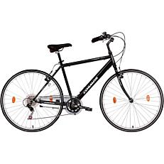 """Ποδήλατο COSMOS URBANO-TREKKING 28"""" 18 ταχύτητες ανδρικό μαύρο"""