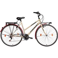 """Ποδήλατο COSMOS PASSEO CITY 28"""" 6 ταχύτητες γυναικείο μπεζ"""