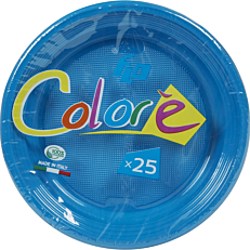 Πιάτα πλαστικά σε μπλε χρώμα 17oz (25τεμ.)