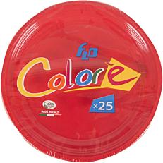 Πιάτα πλαστικά σε κόκκινο χρώμα 22oz (25τεμ.)