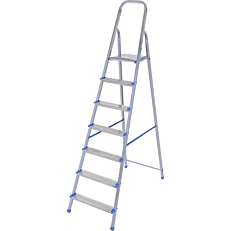 Σκάλα PALBEST Alumet γαλβανιζέ, 6+1 σκαλιών