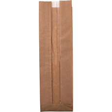 Χαρτοσακούλες κραφτ με παράθυρο 9,5x33cm (5kg)
