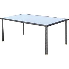 Τραπέζι MIMOSA GARDEN μέταλλο rattan στρογγυλό, καφέ 150x90