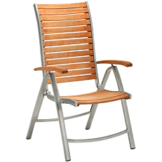 Πολυθρόνα RESORT LINE 5θέσεων από αλουμίνιο και ξύλο