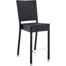 Καρέκλα μπαρ RESORT LINE αλουμινίου συνθετικό rattan