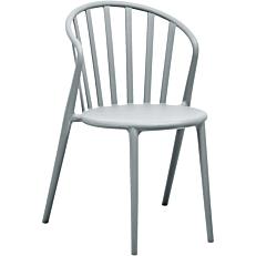 Καρέκλα με στρογγυλή πλάτη γκρι