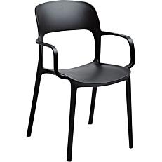 Καρέκλα με χειρολαβή μαύρη