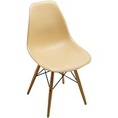 Καρέκλα με βάση χιαστή κρεμ