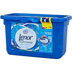Απορρυπαντικό LENOR 3 σε 1 pearls radiant water lily πλυντηρίου ρούχων, σε υγρές κάψουλες (13τεμ.)