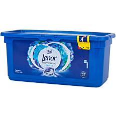 Απορρυπαντικό LENOR 3 σε 1 pearls radiant water lily πλυντηρίου ρούχων, σε υγρές κάψουλες (27τεμ.)
