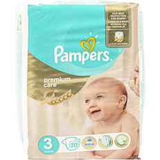 Πάνες PAMPERS premium care No.3 5-9kg (20τεμ.)