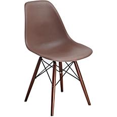 Καρέκλα με βάση χιαστή καφέ